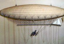 Model al dirijabilului lui Henri Giffard la Muzeul de Știință din Londra / Mike Young Wikipedia