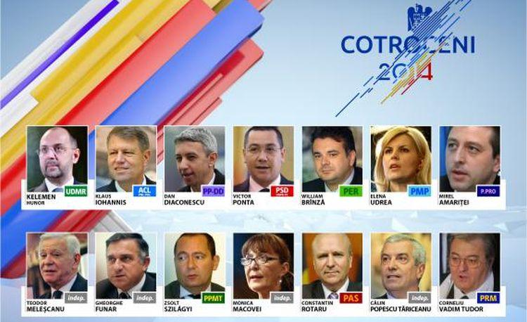 alegeri prezidentiale 2014 14 candidati