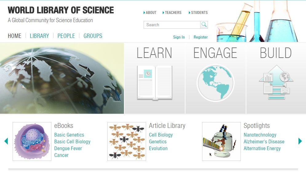 biblioteca mondială a științei
