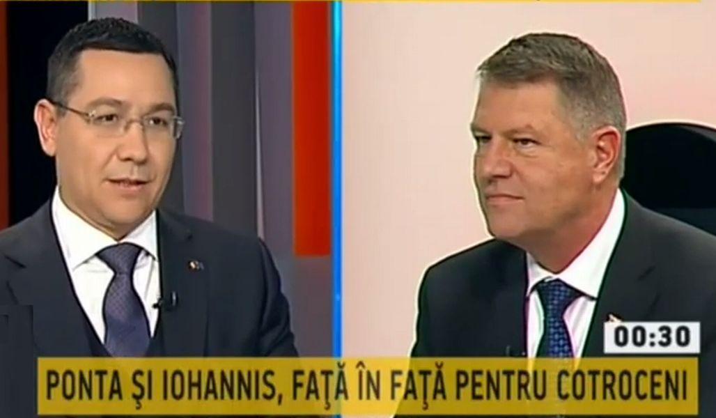 Victor Ponta și Klaus Iohannis