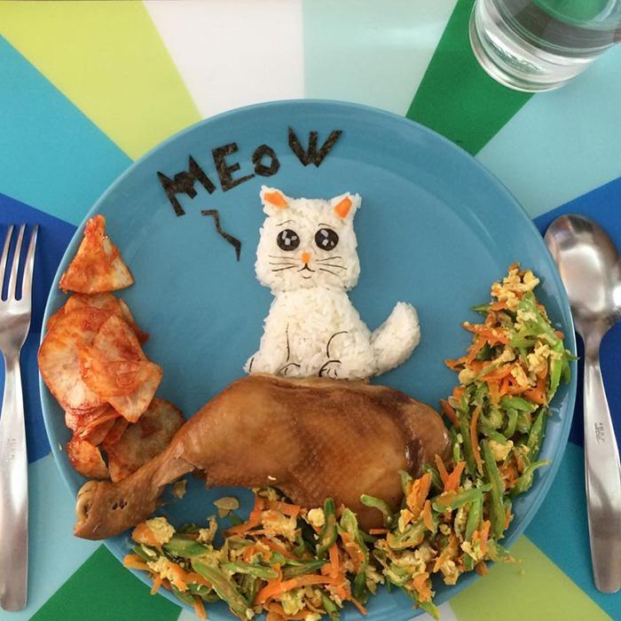 artă la micul dejun