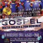 Muzica gospel se va auzi pe 10 decembrie la București Foto: Afiș spectacol