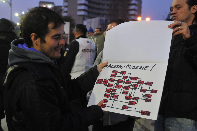 protest aceeși mizerie alegeri prezidențiale 2014