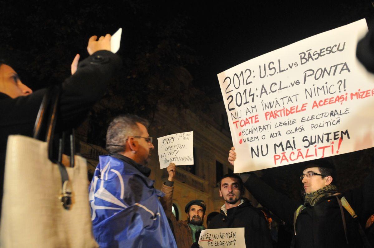 protest aceeași mizerie alegeri prezidențiale 2014