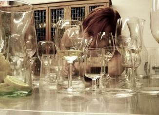 pahare din sticlă
