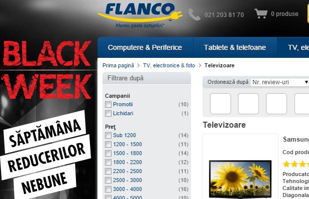 Reduceri Flanco în cadrul campaniei Black Week