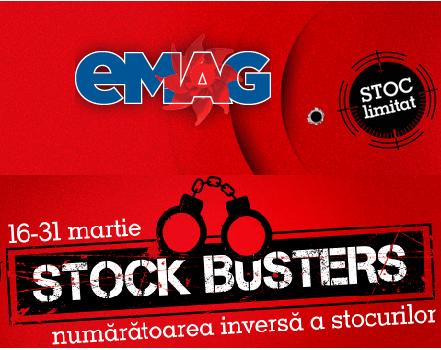 """Reduceri eMAG în cadrul campaniei """"Stock Busters"""""""