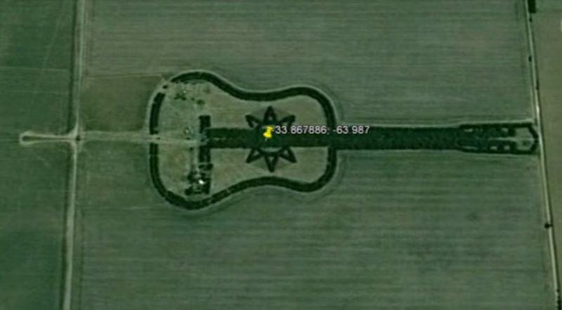 pădurea în formă de chitară
