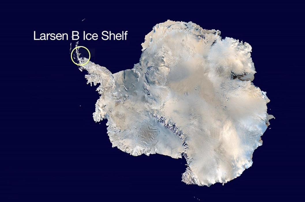 Antarctica își pierde tot mai mult din învelișul milenar de gheață (NASA)