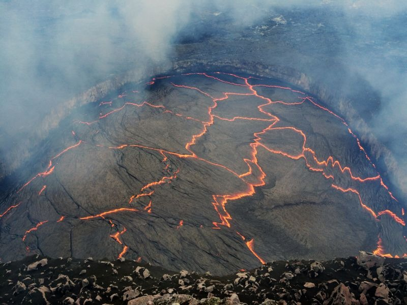 lacul de lavă
