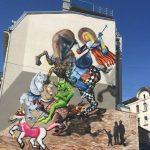 Pictura cu Sfântul Gheorghe ce trebuie modificată