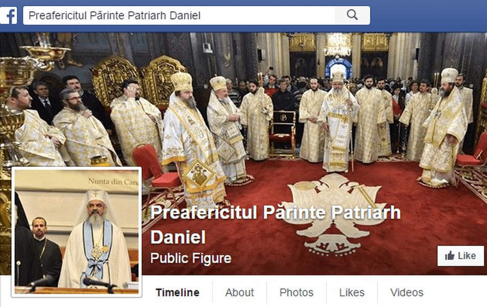 Pe Facebook au apărut mai multe pagini ale Patriarhului Daniel, însă nicuna nu ar fi reală