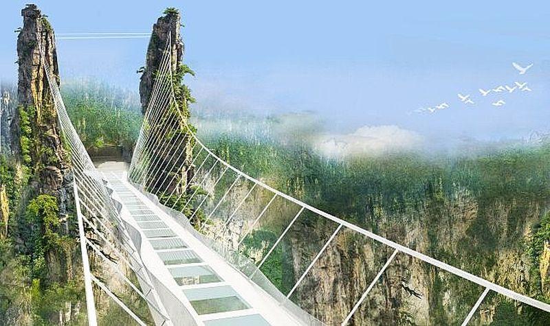 cel mai lunga pod de sticla din lume