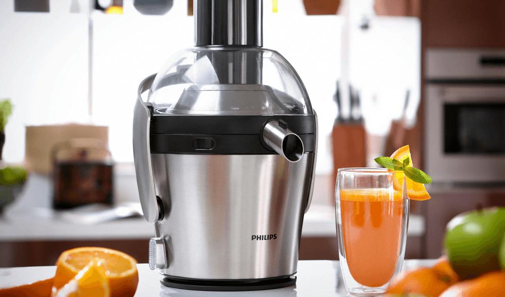 Mai multe produse Philips apar în lista de reduceri eMAG la storcătoare de fructe