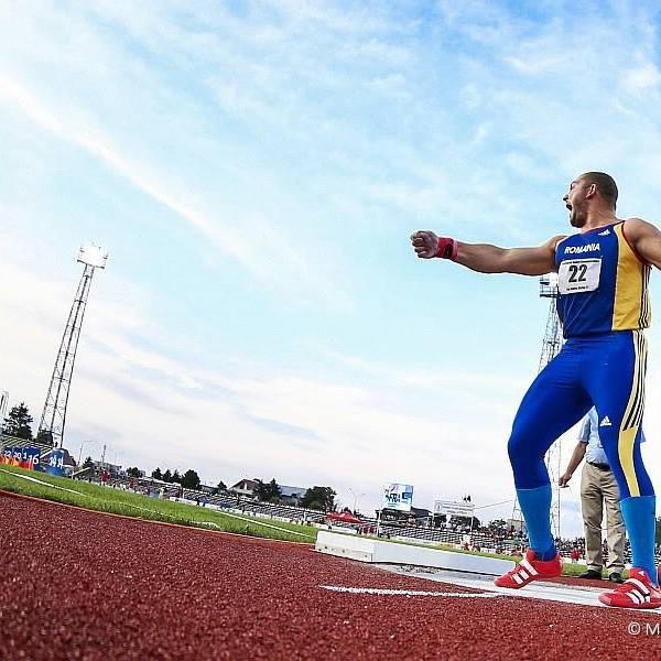 Andrei Gag a stabilit un nou record național la aruncarea greutății (facebook)