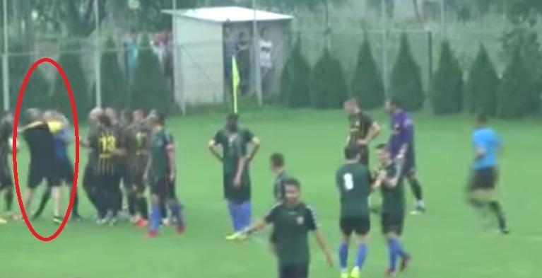 Pumnul care l-a făcut KO pe arbitrul finalei Cupei României, faza județeană din Giurgiu