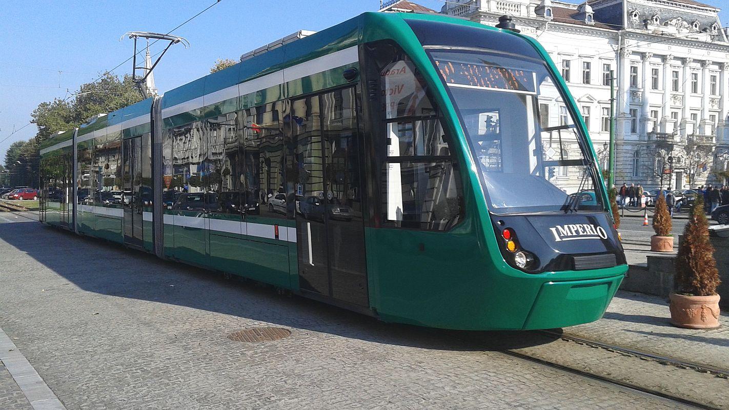 Imperio este un tramvai la care s-a lucrat alături de Siemens FOTO: Livearad.ro