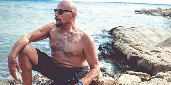 Kazim Gurbuz, pe plajă. Foto: hurriyetdailynews.com