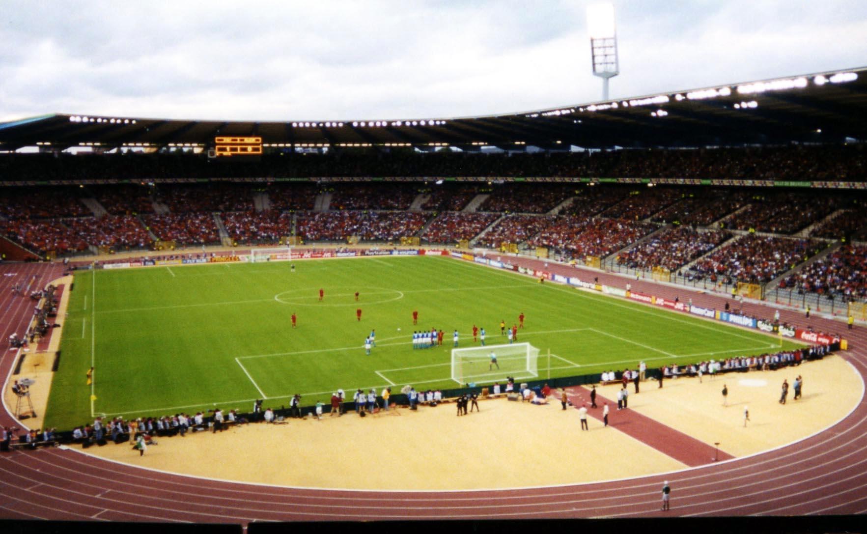 """Stadionul """"Roi Baudouin"""" din Bruxelles ar fi trebuit să găzduiască meciul (Wikimedia Commons)"""