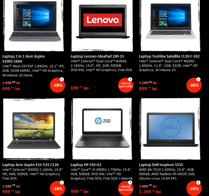 emag black friday laptopuri 20 noiembrie 2015