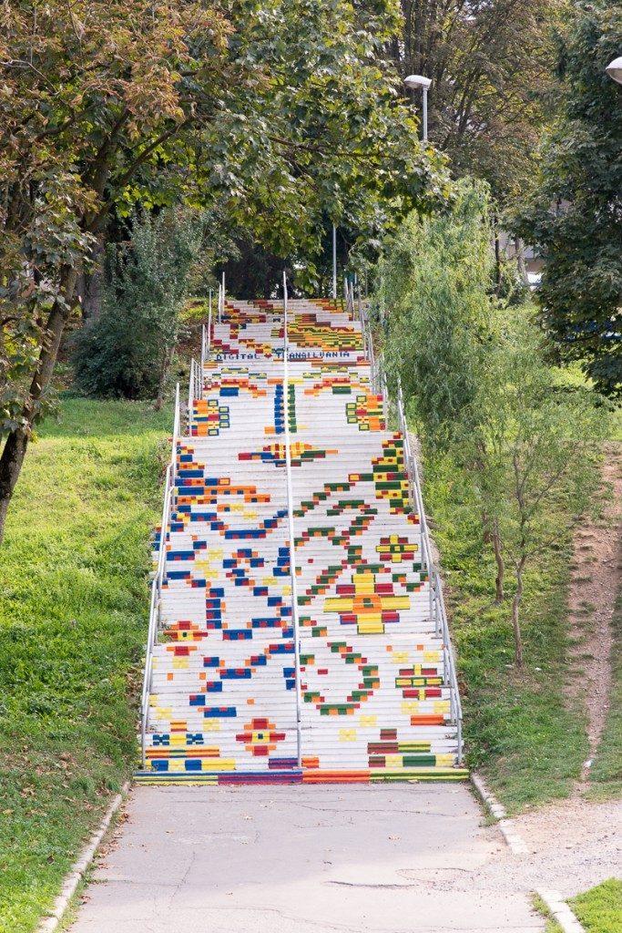 Scările de la Furnica, Târgu Mureș. Foto: cunoastelumea.ro