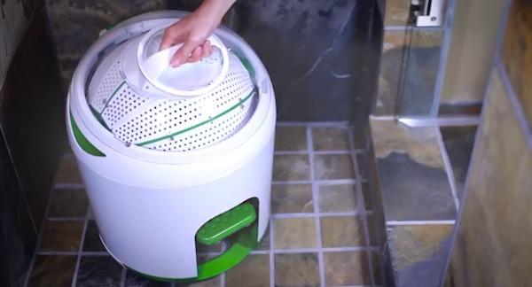 Drumi, mașina de spălat care n-are nevoie de priză sau de baterii (Yirego)