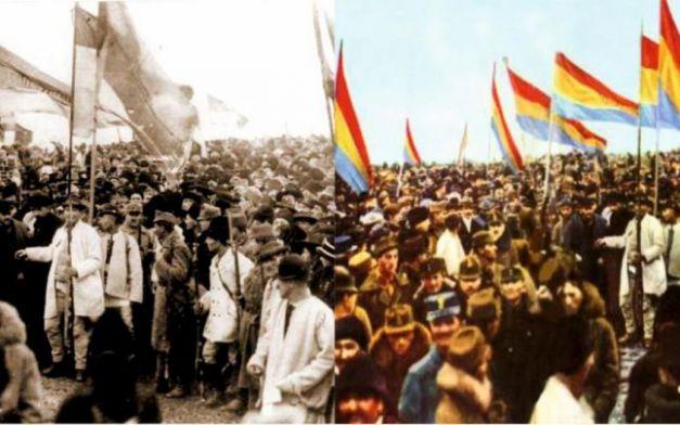 Fotografia originală (stânga) și varianta editată de comuniști (dreapta)