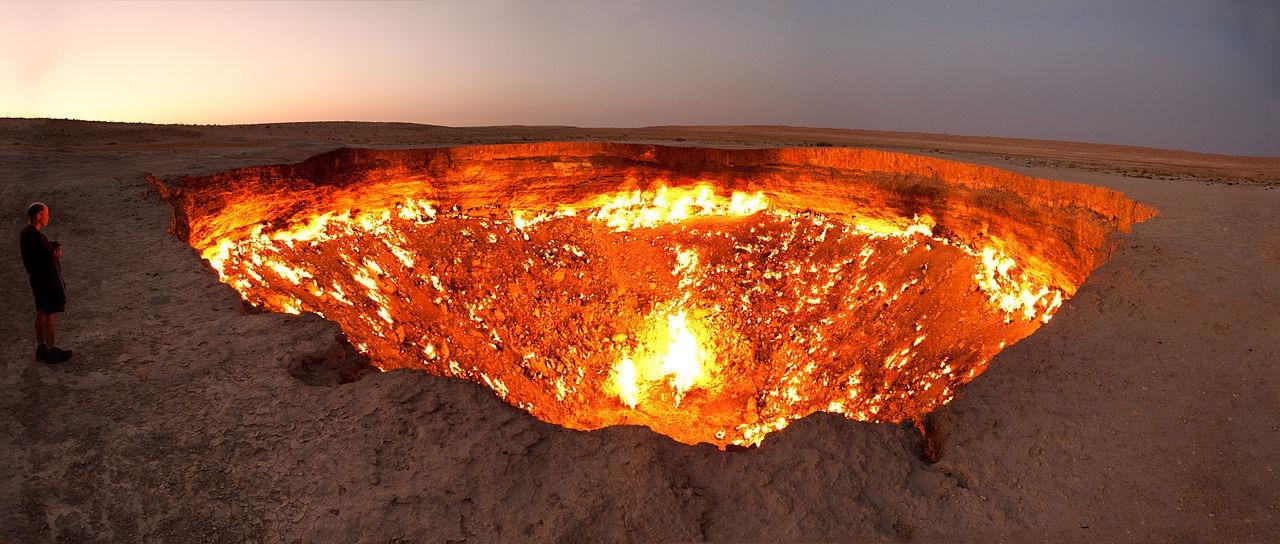 cele mai înfricoșătoare destinații turistice din lume crater