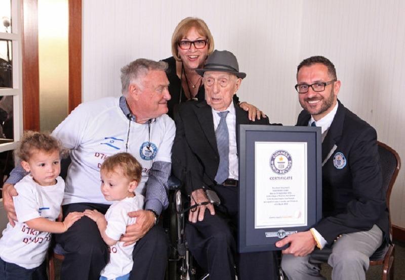 Israel Kristal, cel mai bătrân om din lume (Dvir Rosen - Guinness World Records)