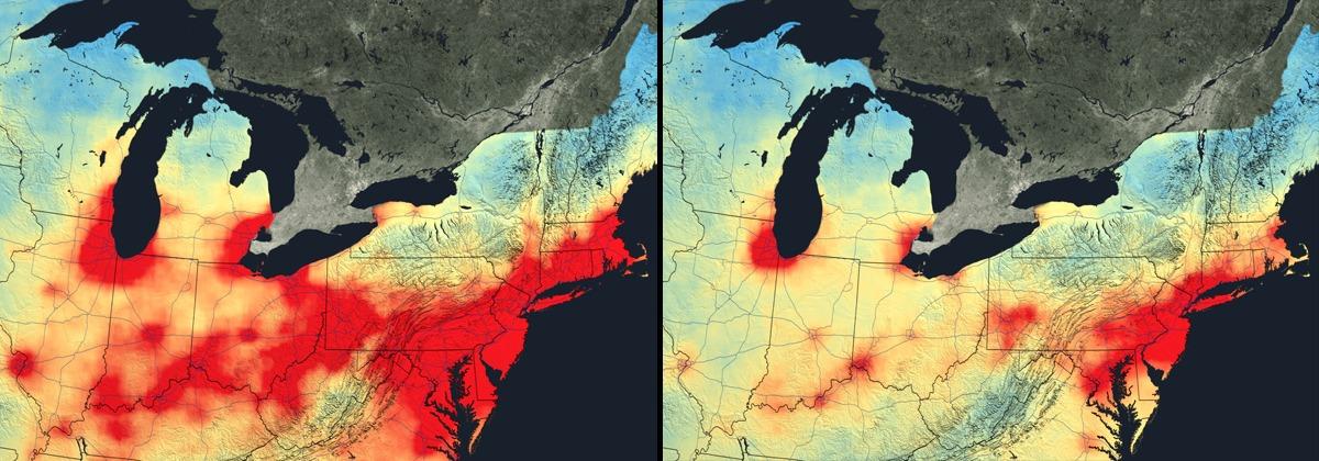 poluarea aerului sua