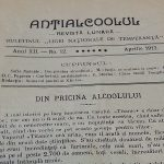 Revista Antialcoolul, luna aprilie 1912