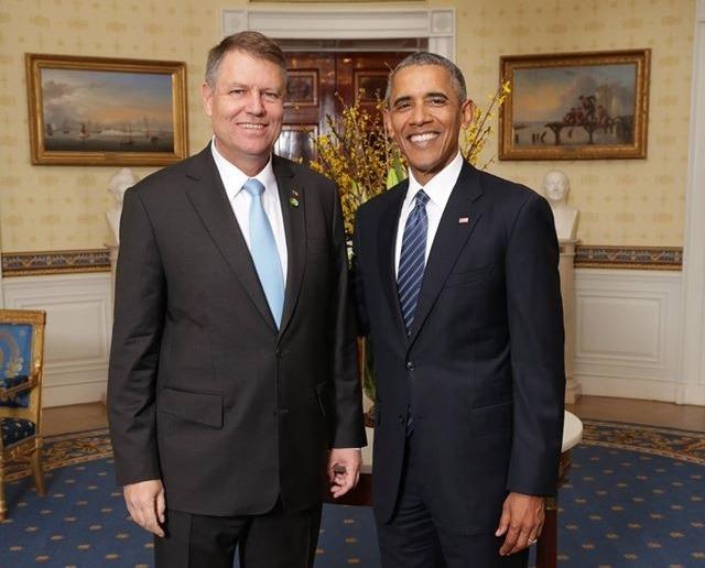 Klaus Iohannis și Barack Obama, la Casa Albă (Facebook)