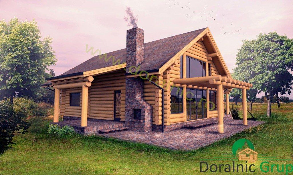 casa din busteni exterior