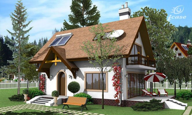 casa pe structura metalica exterior