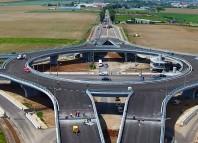 primul sens giratoriu suspendat din românia