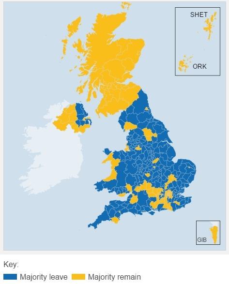 rezultate referendum marea britanie rezultate