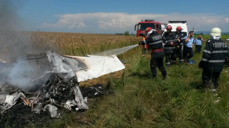 Avion prăbușit FOTO: ISU Brașov
