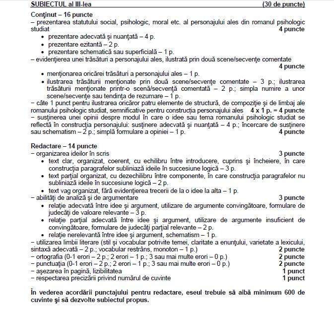 barem bac 2016 română uman