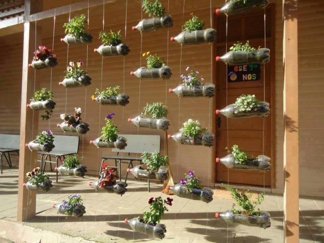 idei de amenajare a casei sticle plastic reciclate