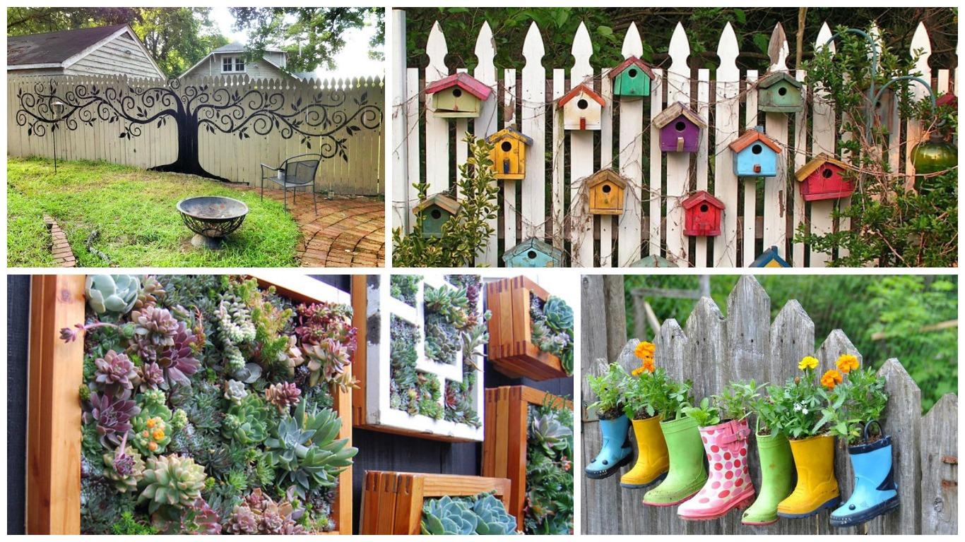 idei de decorare a gardurilor