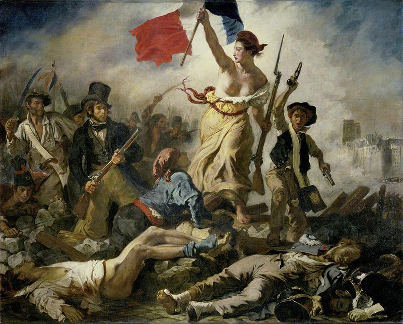 Libertatea conducând poporul eugene delacroix