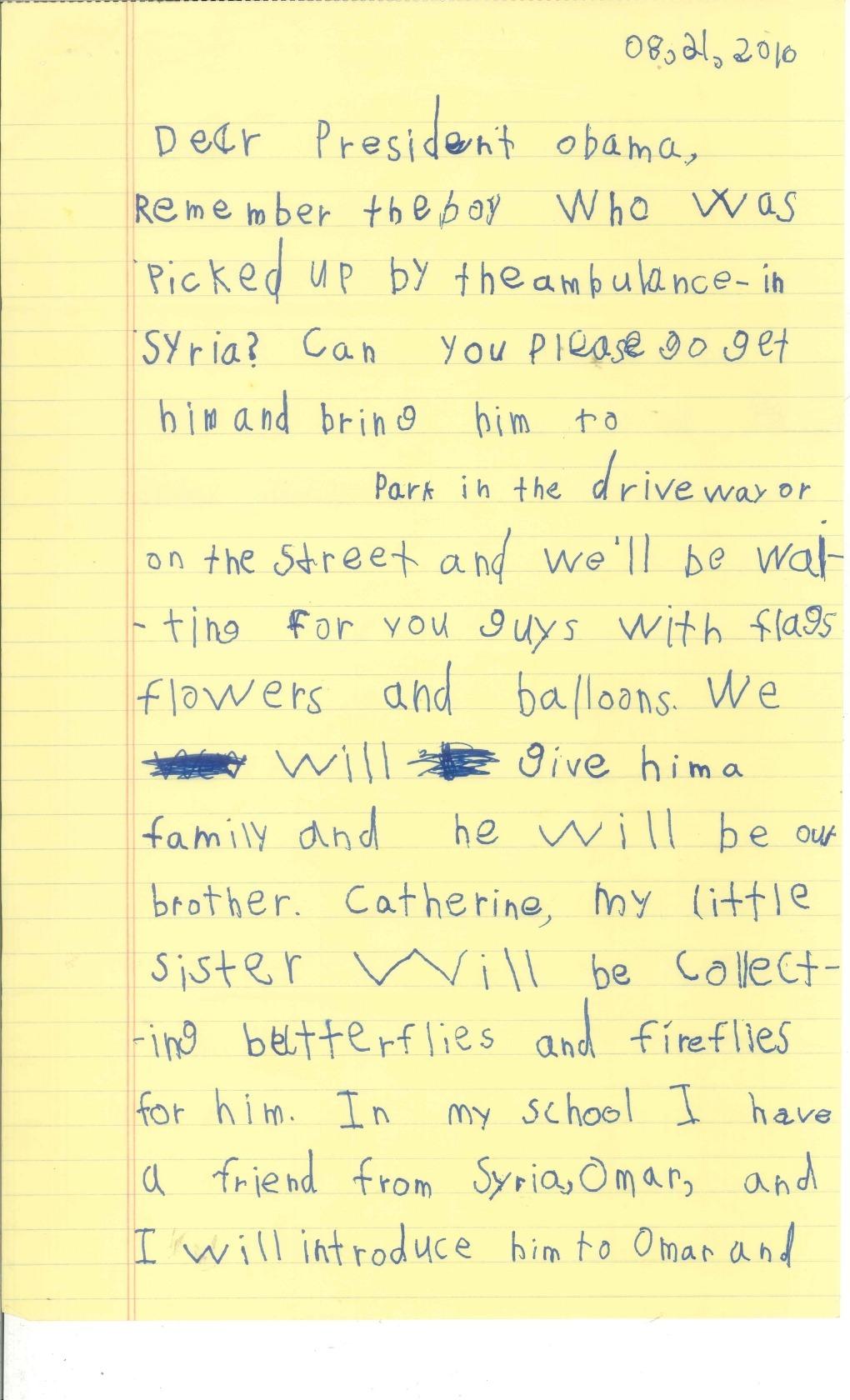 scrisoare alex barack obama