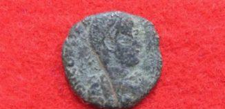 Una din monedele romane găsite în Japonia (Urama)