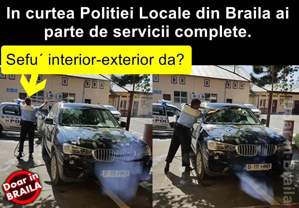 mașină brăila poliția locală