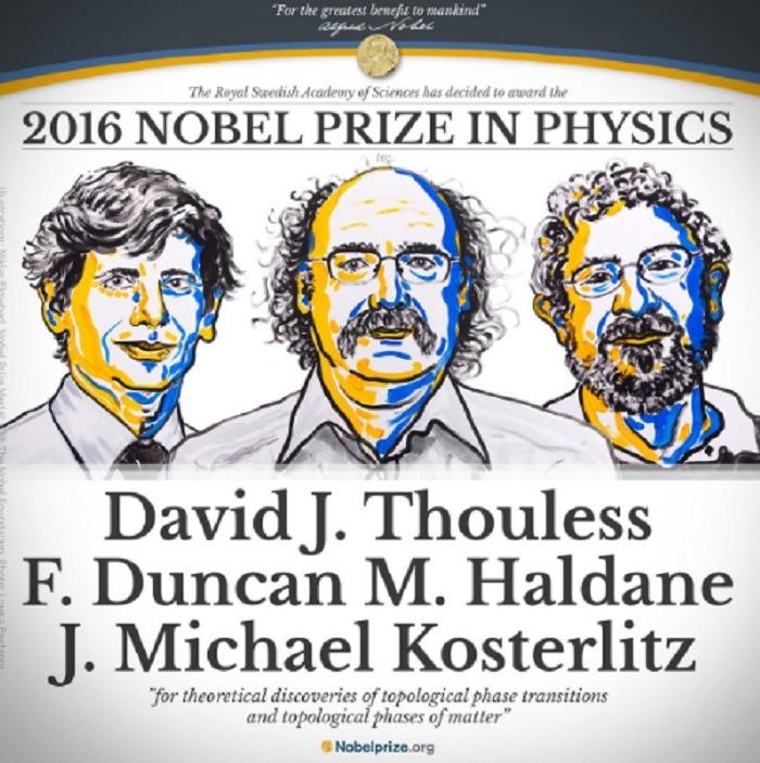 Cei trei laureați ai Premiului Nobel pentru Fizică 2016
