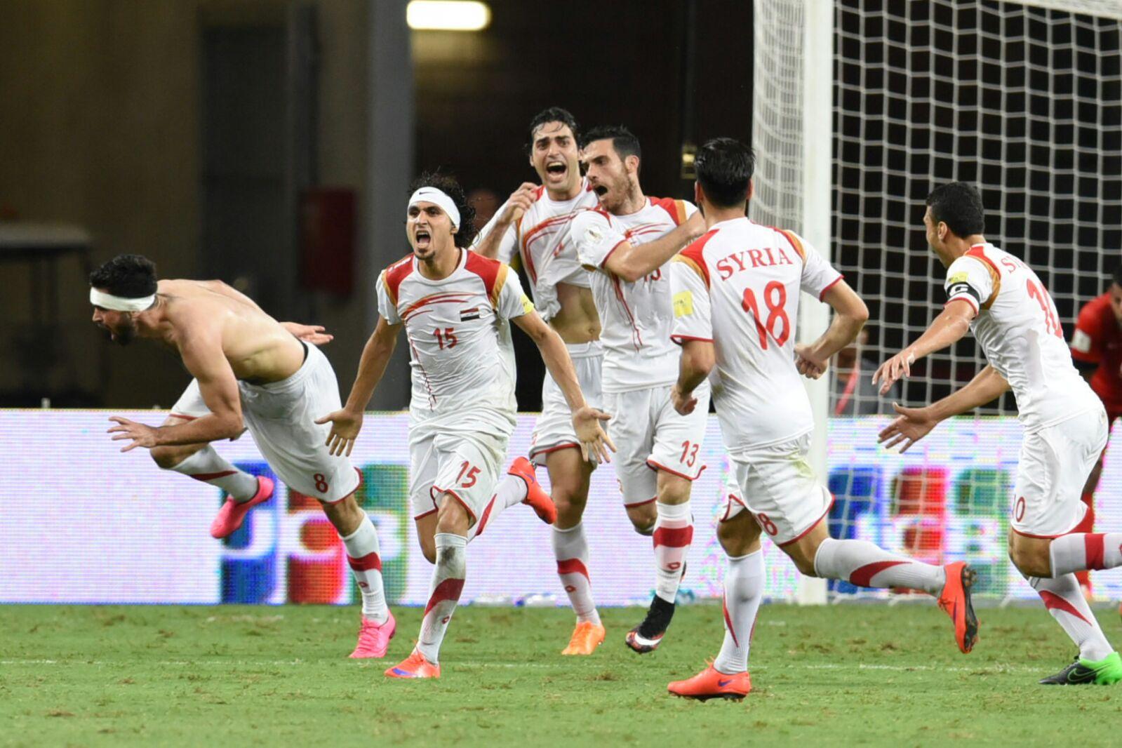 Fotbaliștii sirieni au depășit deja două faze de calificare și țintesc un loc la turneul final din Rusia (Foto: Ngau Kai Yan)