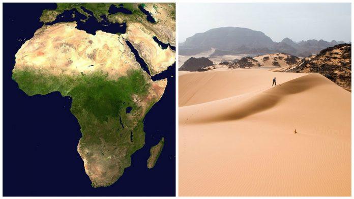 deșert sahara harta