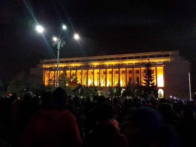 Protest în fața Guvernului FOTO: Sorin Breazu/GreatNews