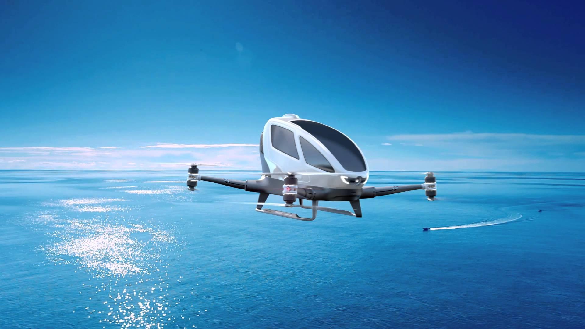 Așa arată drona produsă de chinezii de la eHang (Foto: Youtube)