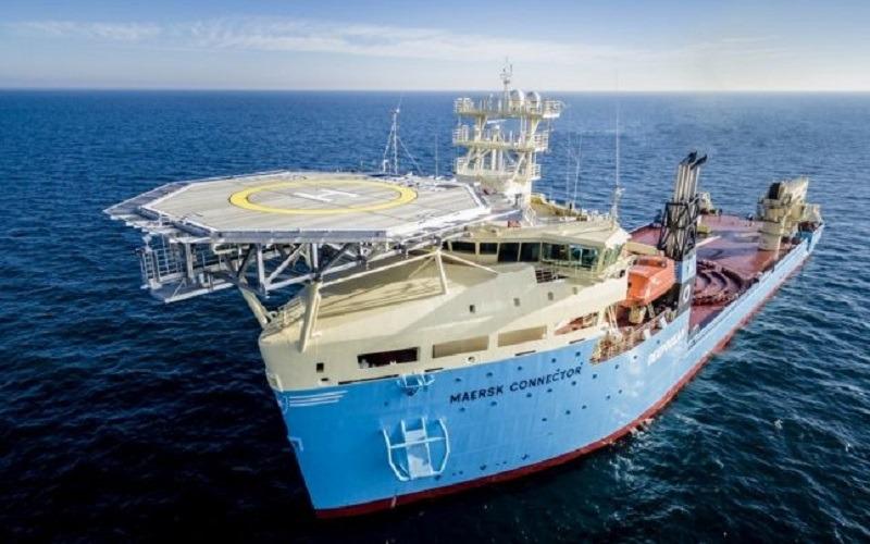 Așa arată nava Maersk Connector, construită la Galați. Foto: Damen